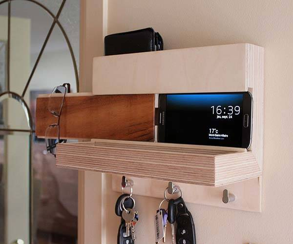 The Handmade Wall Organizer with Docking Station