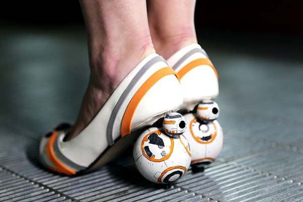 The Star Wars High Heels with Two Mini BB-8 Droids