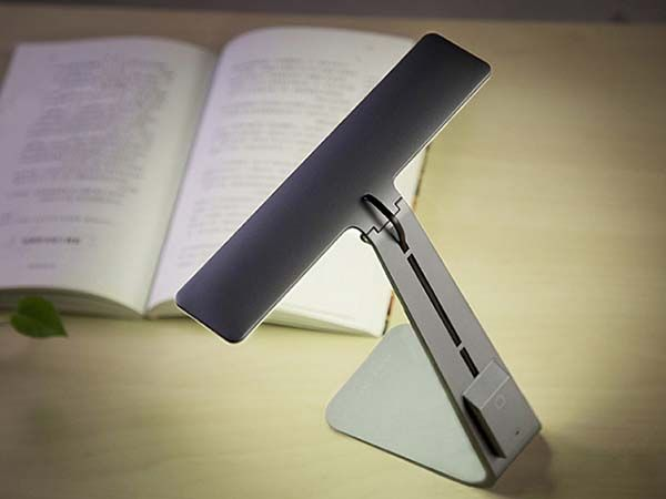 Ultra-Thin LED Desk Lamp with Built-In Rechargeable Battery