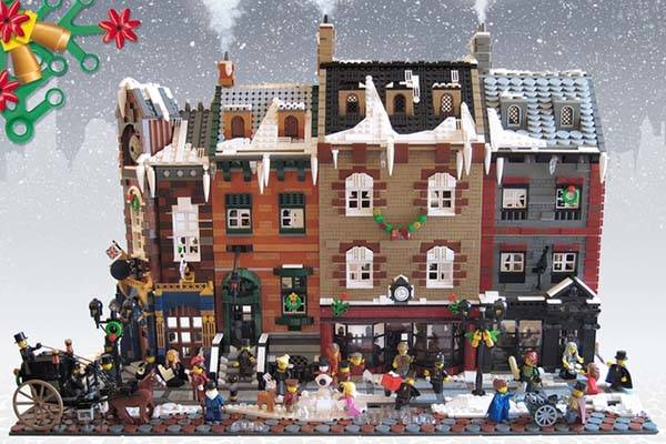Victorian London Christmas Lego Set Gadgetsin