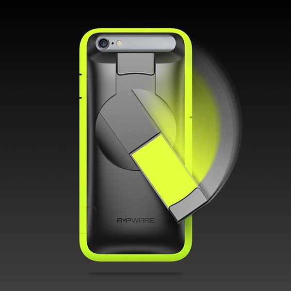 AMPware iPhone 6s Case with Integrated Hand-Cranked Generator