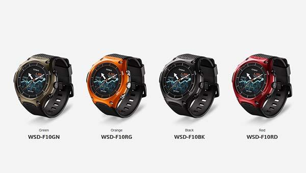 Casio WSD-F10 Outdoor Smartwatch with Dual-Layer Display Structure