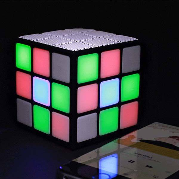 Disco Cube Portable Bluetooth Speaker with Charming Lighting Effects