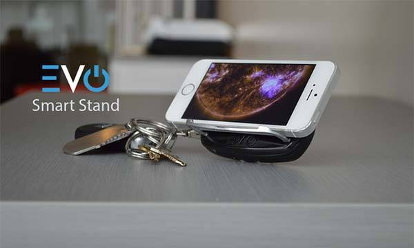 EVO Keychain with Power Bank, Wall Charger, Phone Stand, Bluetooth Tracker and More