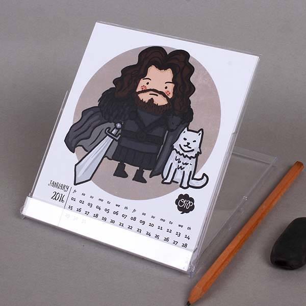 Game of Thrones Desk Calendar 2016
