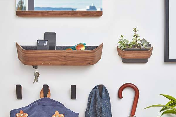 The Entryway Wooden Catch-All Wall Organizer