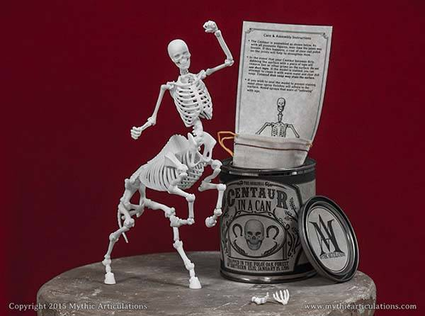 Handmade 3D Printed Skeleton Action Figures