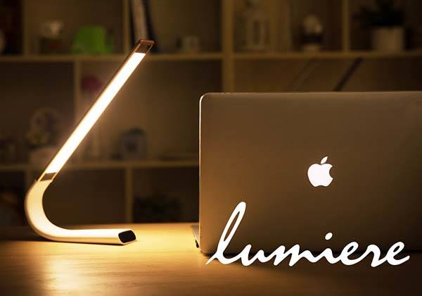 Lumiére Portable, Flexible LED Lamp Powered by Built-in Rechargeable Battery