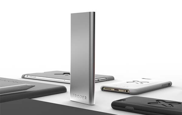 Proper Power Ultra-Thin Portable Charger with 9000mAh Backup Battery