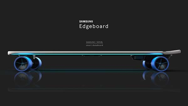 Samsung Edgeboard - Galaxy S6 Edge Inspired Concept Smart Skateboard