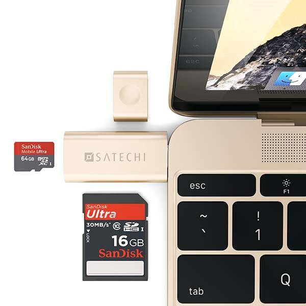 Satechi Aluminum USB-C Micro/SD Card Reader
