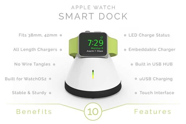 Smart Dock Apple Watch Charging Station
