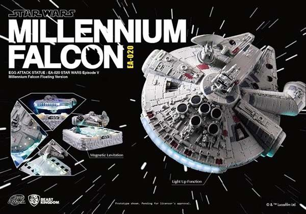 Star Wars Magnetic Floating Millennium Falcon Model