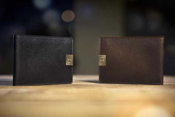 DUN Ultra Slim Bifold Leather Wallet