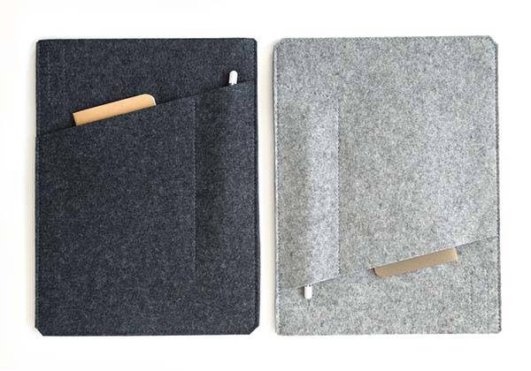The Handmade iPad Pro Sleeve for The Large-Screen Tablet, Apple Pencil and Cards