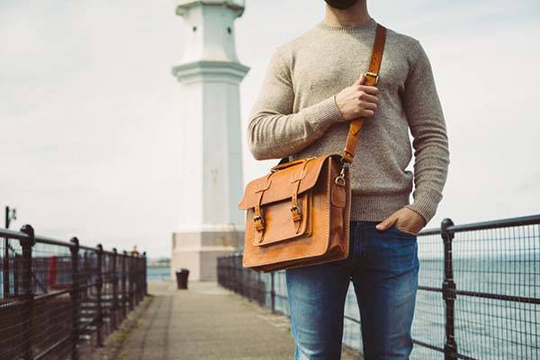 Handmade Retro Leather Messenger Bag