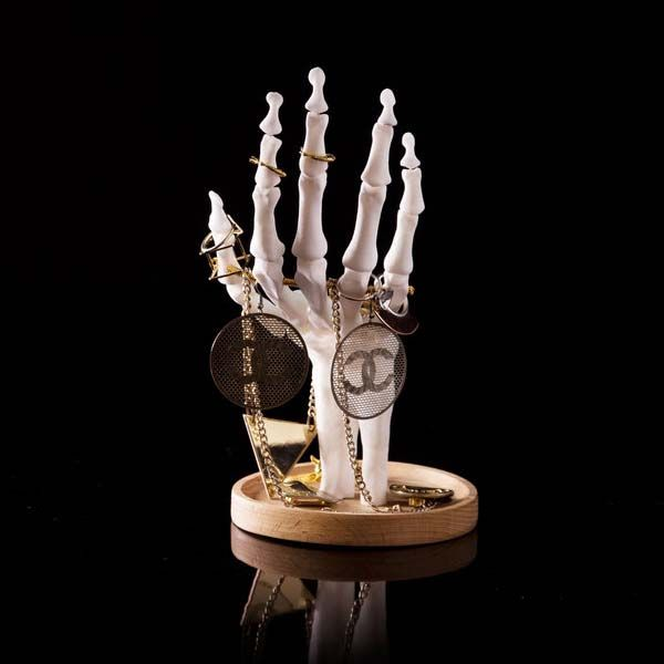 The Skeleton Hand Jewelry Tidy Organizes Your Treasures in