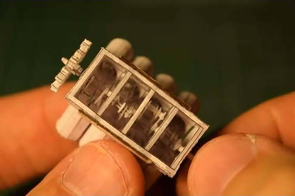 The Awesome Working Mini Paper V8 Engine Model