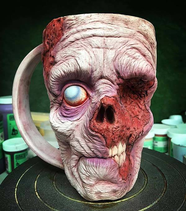 The Zombie Mugs Features Realistic and Creepy Detailing