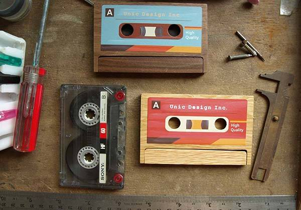 Unic Cassette Tape Shaped Business Card Holder