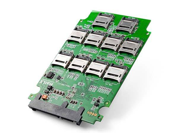 10x MicroSD to SATA Adapter