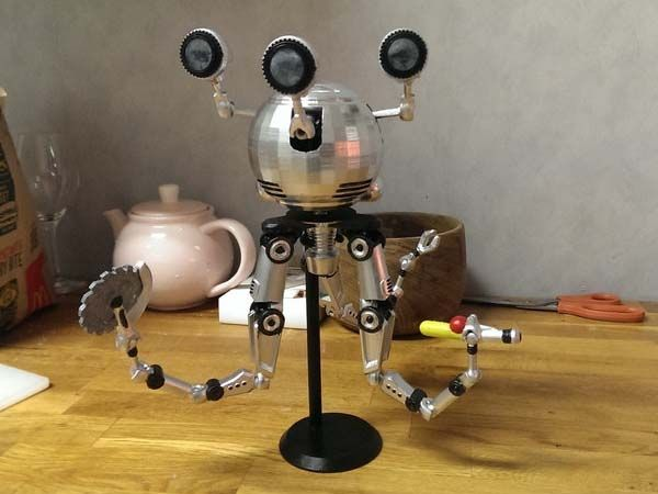 Fallout 4 3D Printed Codsworth Action Figure
