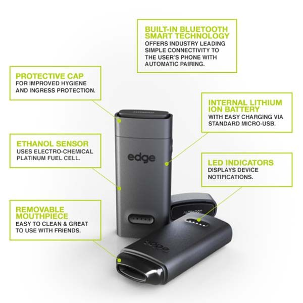 Alcohoot Edge App-Enabled Smart Breathalyzer