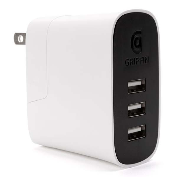 Griffin PowerBlock Universal 3-Port USB Wall Charger