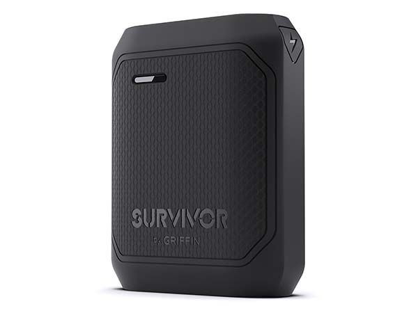 Survivor Waterproof Water Power Bank with LED Flashlight