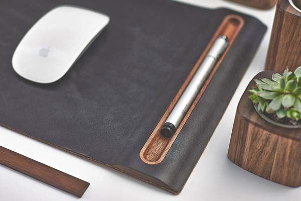 Grovemade Walnut Mouse Pad with Pen Holder