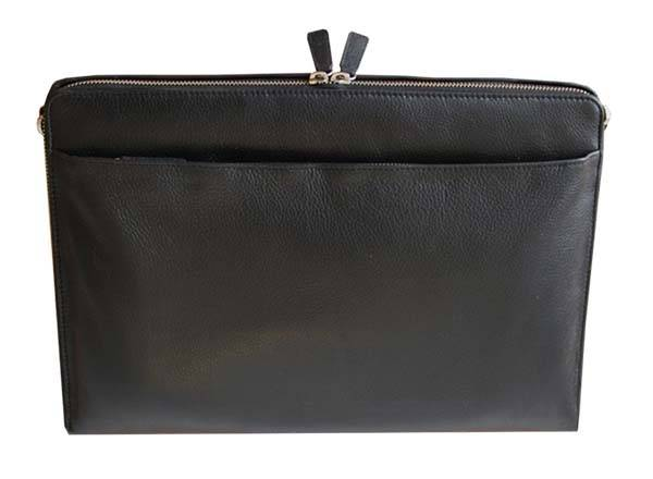 HELCY Leather Laptop Bag with Integrated Portable Laptop Stand
