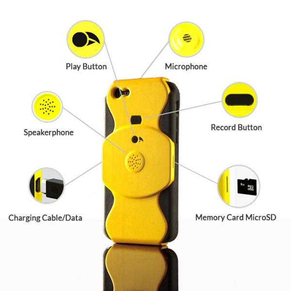 JIC iPhone Case with Audio Recorder