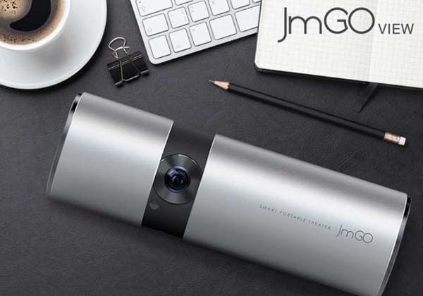 JmGO View Smart Portable Projector with Dolby Digital Plus Speakers