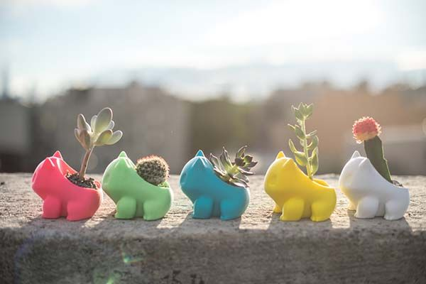 Pokemon Bulbasaur and Oddish 3D Printed Planters