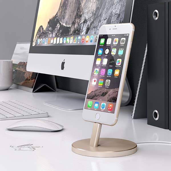 Satechi Aluminum Lightning Charging Station for iPhone