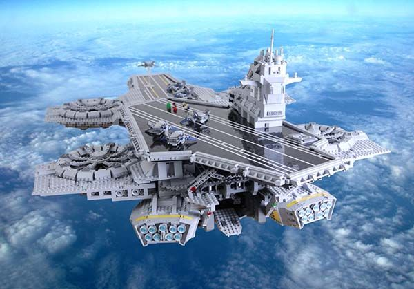 The LEGO SHIELD Helicarrier Built with 15000 LEGO Bricks