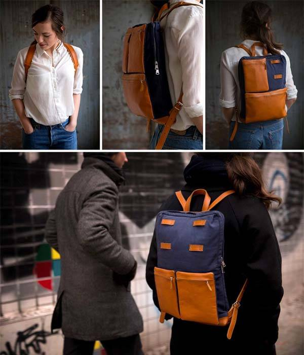 The Grid Urban-Style Modular Backpack