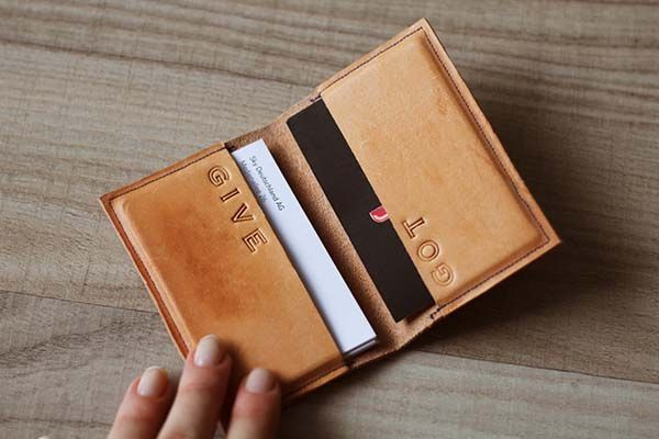 The Customizable Handmade Leather Business Card Case