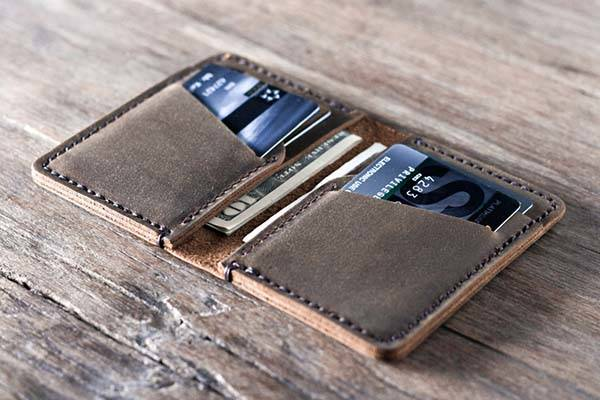 Handmade Front Pocket Design Leather Credit Card Wallet
