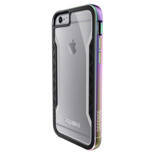 X-Doria Defense Shield iPhone 6s Case with Aluminum Frame and Clear Back