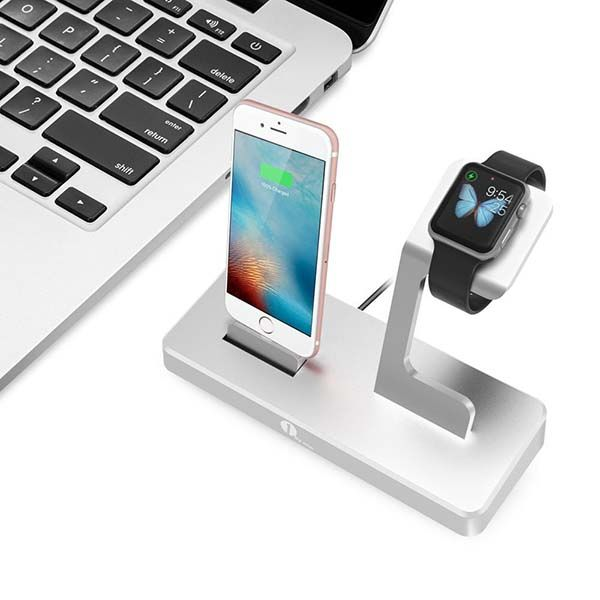 1byone Aluminum Charging Station for iPhone, Apple Watch and Mobile Devices