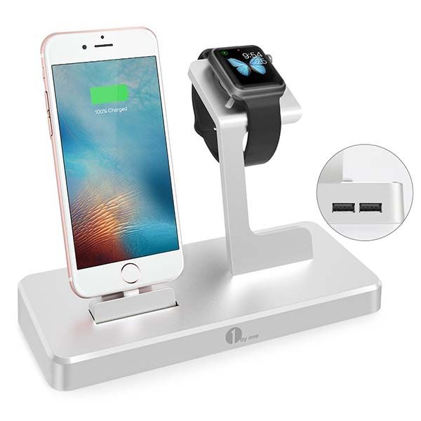 1byone Aluminum Charging Station for iPhone, iPad, Apple ...