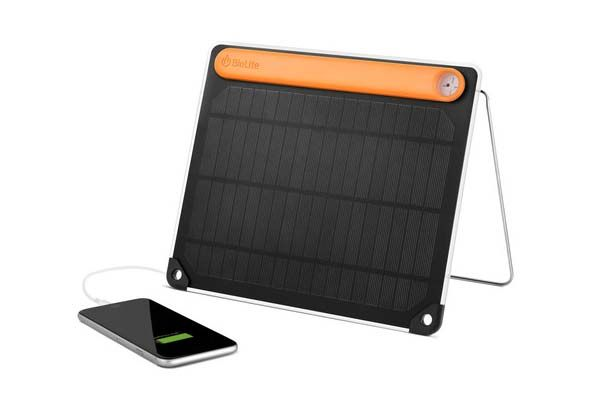 BioLite SolarPanel 5+ Portable Solar Charger with 2200mAh Power Bank