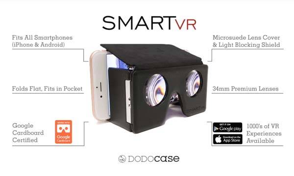DODOcase SMARTvr Pocket-Friendly Foldable Virtual Reality Viewer