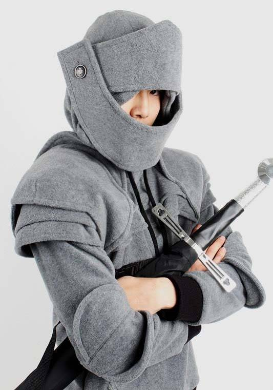 duncan armored knight hoodie turns you into a medieval knight