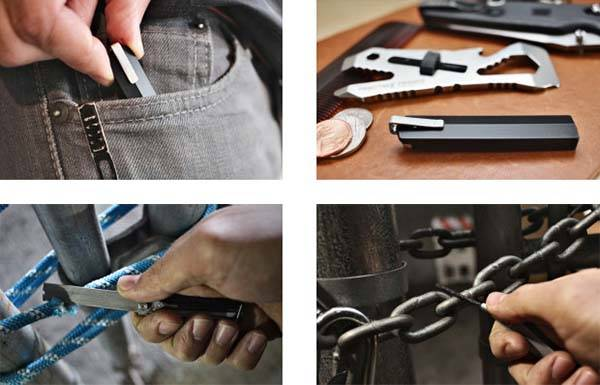 EvadeClip Multi-Tool with Two Saws and Lock-Pick Set