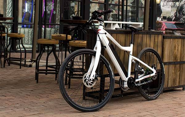 Flux Electric Bike with 250W Mid-Drive Motor, Integrated Battery and Backlit LED Display