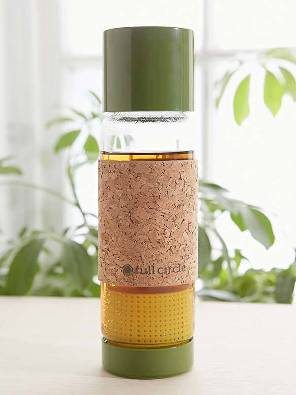 Full Circle Tea Time To-Go Travel Mug with Tea Infuser