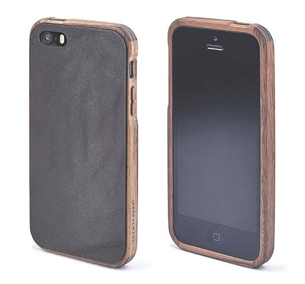 Grovemade Wood and Leather iPhone SE Case