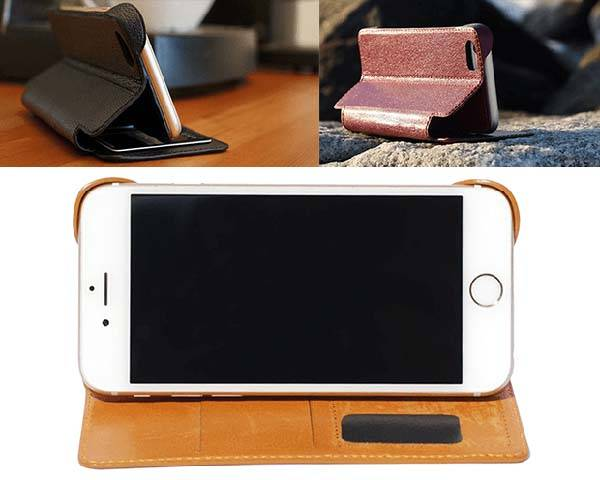 Guardian Leather iPhone 6s Case with Protective Corners, Micro-Suction Pad and Built-in Wallet